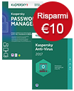 Kaspersky Anti-Virus & Password Manager - Offerta Speciale!